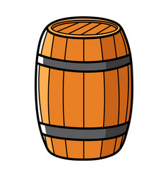 Graphic of a wooden barrel vector