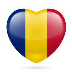 Heart icon of romania vector