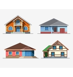Houses 3 color vector