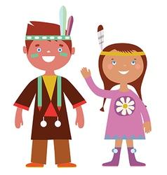 Indian kids vector image vector image