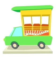 Indian taxi icon cartoon style vector