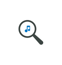 magnifying glass icon music icon vector image