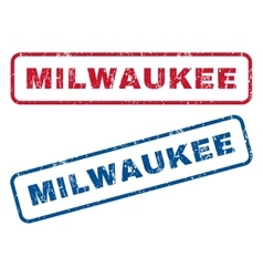 Milwaukee rubber stamps vector