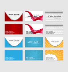 Modern simple business cards template set vector image vector image