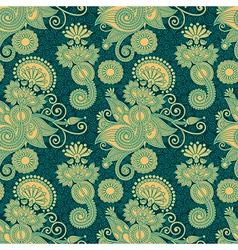 ornate floral vintage seamless pattern vector image