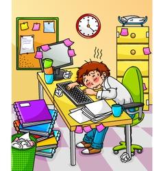 Overworked worker vector