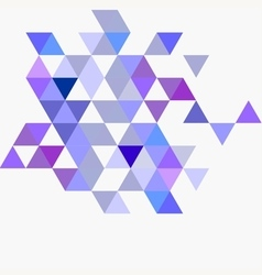 Pastel blue violet and grey triangle background vector
