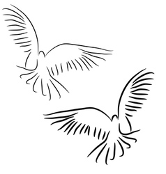 peace dove concept vector image vector image