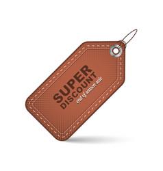 Sale price tag or label super discount design vector