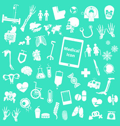 Set medical icon vector