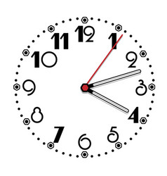 simple black and white clock tithing edition vector image vector image