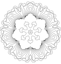 symmetry curves pattern vector image vector image