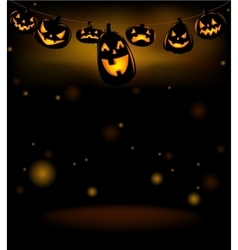 The hanging laughing halloween lanterns vector