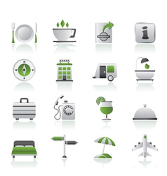 Traveling and vacation icons vector image vector image