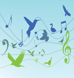 Colorful background with music notes vector