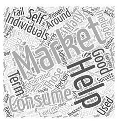 Consumer improvement profile self word cloud vector