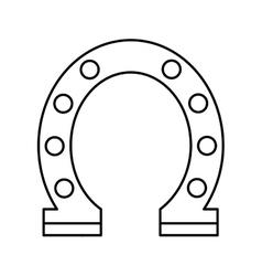 Horseshoe luck isolated icon vector
