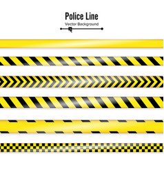 Yellow with black police line danger security vector