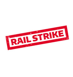 rail strike rubber stamp vector image