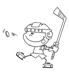 Cartoon hockey player vector