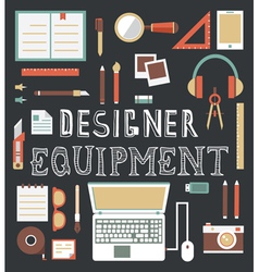 Set of equipment for design designer gadgets for c vector