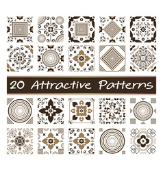 20 Attractive Patterns Art 02 vector image vector image