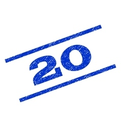 20 Watermark Stamp vector image