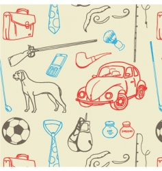 men stuff seamless pattern vector image