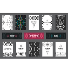 Set of geometric flyers hipster background with vector