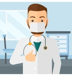 Confident doctor in mask vector