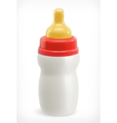 Bottle with pacifier vector