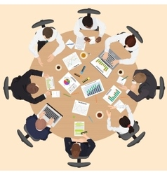 Corporate business management teamwork meeting and vector