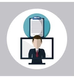 Business concept computer icon communication vector