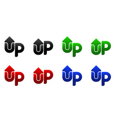 arrow up up button vector image