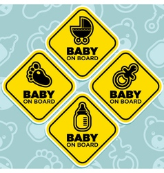 Baby on board signs vector
