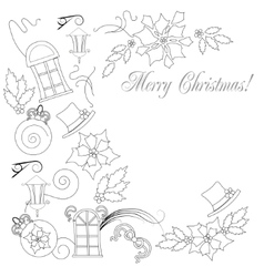 Background with christmas things artboard 1 vector