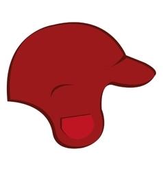 baseball helmet isolated icon vector image vector image