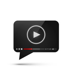 Chat video frame flat icon black object design vector