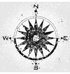 Compass grunge vector
