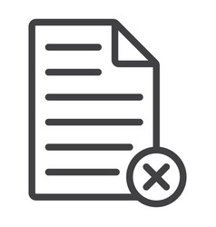 delete document line icon web and mobile vector image vector image