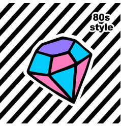 fashion card with dyamond in pop art style vector image