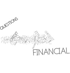 Financial fitness checklist text background word vector