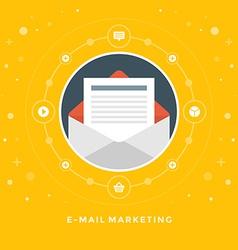 Flat design business concept e-mail marketin vector