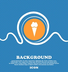 Ice Cream icon sign Blue and white abstract vector image