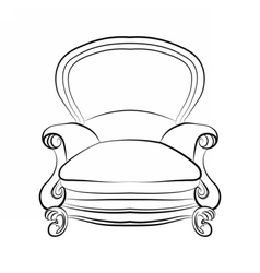 Imperial royal armchair with ornaments vector