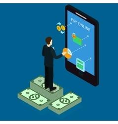 Internet banking isometric design vector