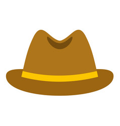 Man hat icon isolated vector