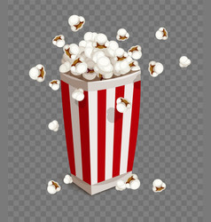 paper cup with popcorn vector image