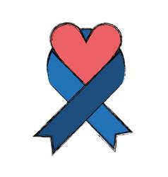 Peace ribbon symbol vector