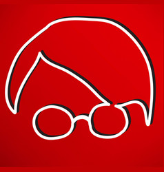person with glasses vector image